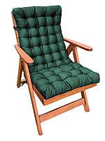 Матрас на кресло Кедр на Ливане стеганный серия Garden 105x48x7 см Зеленый (1047)