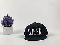 Кепка снэпбек Queen (черная с белым лого)