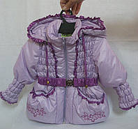 Курточка демисезонная сиреневая р.80