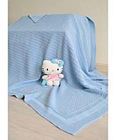 Дитячий в'язаний плед Прованс блакитний 80х100 ПРО0143012