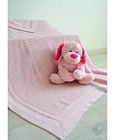 Дитячий в'язаний плед Прованс рожевий 80х100 ПРО0143013