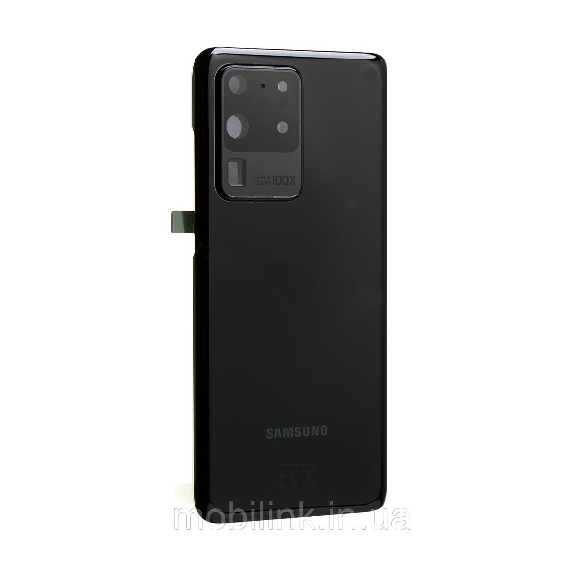 Крышка задняя Samsung SM-G988 Galaxy S20 Ultra,Чёрная(Cosmic Black), GH82-22262A, оригинал!