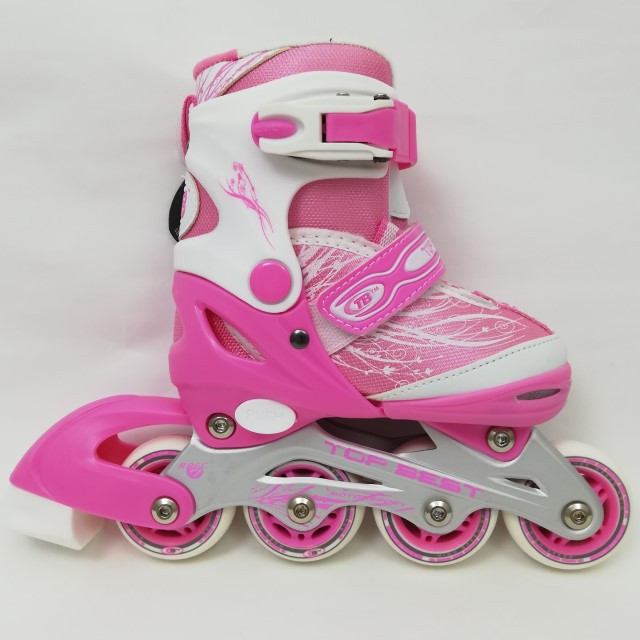 РоликиMarathon 12A10 рожеві розмір 27-30