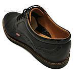 Туфли мужские Bumer k1 черные кожа, фото 3