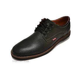 Туфлі чоловічі Bumer k1 чорні шкіра