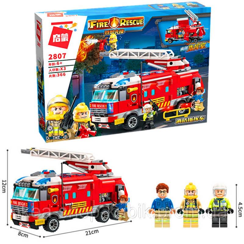 """Конструктор Brick 2807 """"Пожарная машина"""" 366 деталей"""