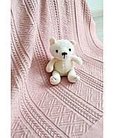 Дитячий в'язаний плед Прованс рожевий 90х130 ПРО012503