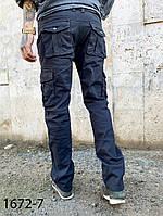 Мужские брюки карго серый