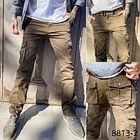 Мужские брюки карго коричневый