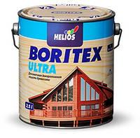 Boritex Ultra (топлазурь) №4 орех, деревозащитная лак-пропитка на воске, 2.5 л