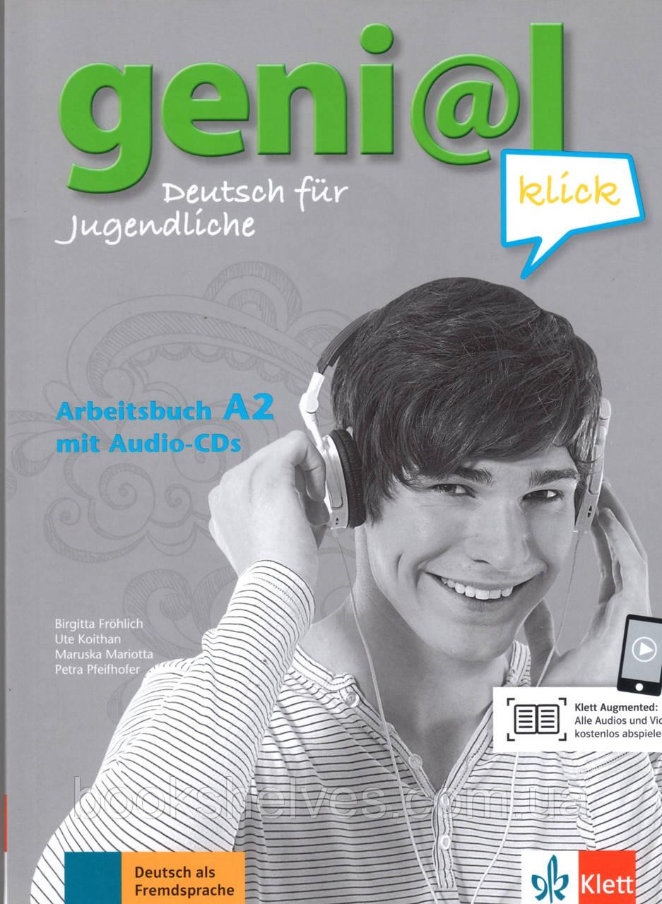 Робочий зошит geni@l klick A2 Arbeitsbuch+CD