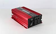 Преобразователь UKC авто инвертор 12V-220V 500W + Экран