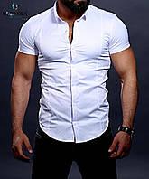 Стильная мужская рубашка с коротким рукавом, коллекция 2020 года