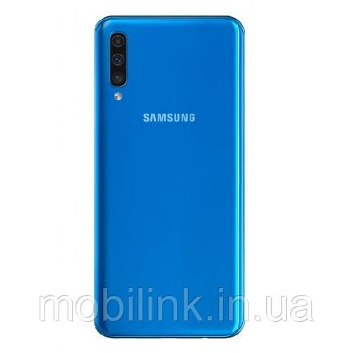 Крышка задняя (панель) Samsung A505 Galaxy A50 Голубая Blue GH82-19398C оригинал!