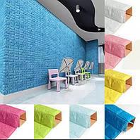 3D панелі самоклейки для стін під цеглу 7мм, м'яка 3д панель наклейка ПВХ під цеглу