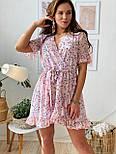 Женское платье на запах с цветочным принтом (в расцветках), фото 2