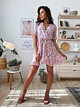 Женское платье на запах с цветочным принтом (в расцветках), фото 6