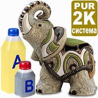 Жидкий пластик для литья фигурок, моделей, сувениров, магнитиков, Монблан 2к ПУР