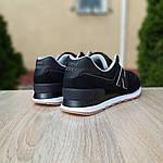 Женские замшевые кроссовки New Balance 574 (черные) Рефлективные 20093, фото 2