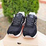 Женские замшевые кроссовки New Balance 574 (черные) Рефлективные 20093, фото 6