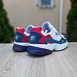 Женские кроссовки Adidas Falcon (бело-синие с красным) 20098, фото 2