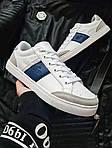 Мужские кроссовки Lacoste (бело-серые с синим) 378PL, фото 2