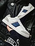 Мужские кроссовки Lacoste (бело-серые с синим) 378PL, фото 3