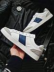 Мужские кроссовки Lacoste (бело-серые с синим) 378PL, фото 6