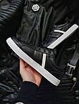 Чоловічі кросівки Lacoste (чорно-білі) 379PL, фото 2