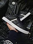 Чоловічі кросівки Lacoste (чорно-білі) 379PL, фото 4