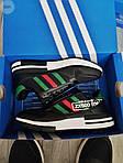 Мужские кроссовки Adidas ZX 500 RM (черно-зеленые) 380PL, фото 4