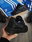 Мужские кроссовки Adidas ZX 500 RM (черные) 382PL, фото 2