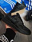 Мужские кроссовки Adidas ZX 500 RM (черные) 382PL, фото 5