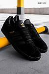 Мужские кроссовки Adidas Gazelle (Черные), фото 3