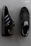 Мужские кроссовки Adidas Gazelle (Черные), фото 6