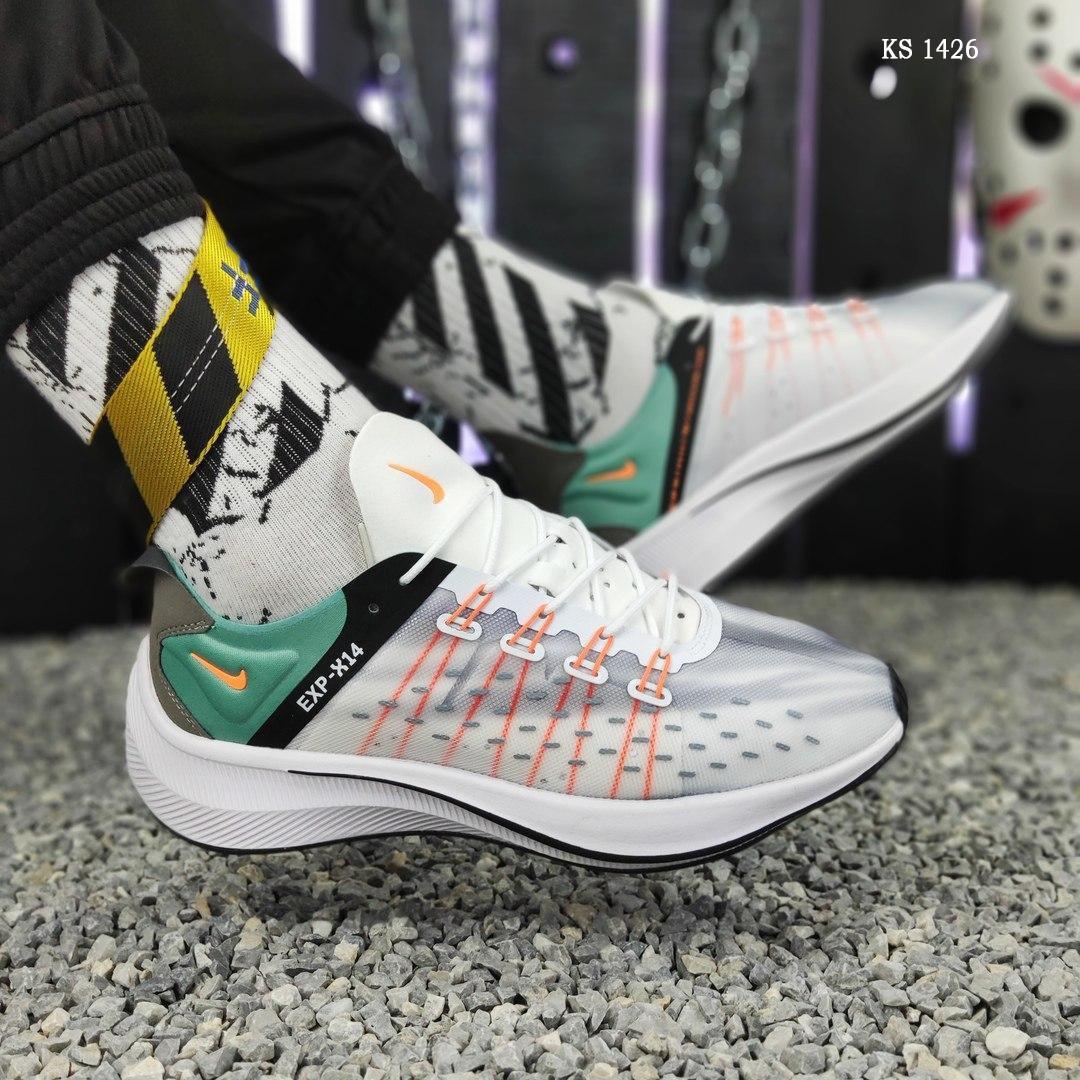 Чоловічі кросівки Nike EXP-X14 (біло-зелені) KS 1426