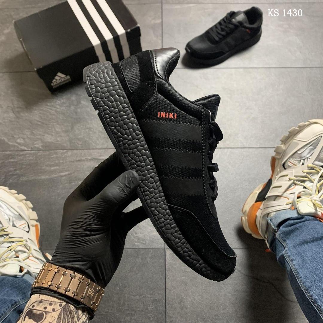 Чоловічі кросівки Adidas Iniki (чорно/білі) KS 1430