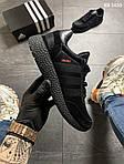 Чоловічі кросівки Adidas Iniki (чорно/білі) KS 1430, фото 2