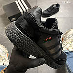 Чоловічі кросівки Adidas Iniki (чорно/білі) KS 1430, фото 3