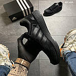 Чоловічі кросівки Adidas Iniki (чорно/білі) KS 1430, фото 8