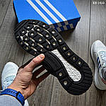 Чоловічі кросівки Adidas ZX 500 RM (чорно-білі) KS 1433, фото 3