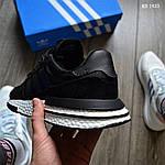 Чоловічі кросівки Adidas ZX 500 RM (чорно-білі) KS 1433, фото 5