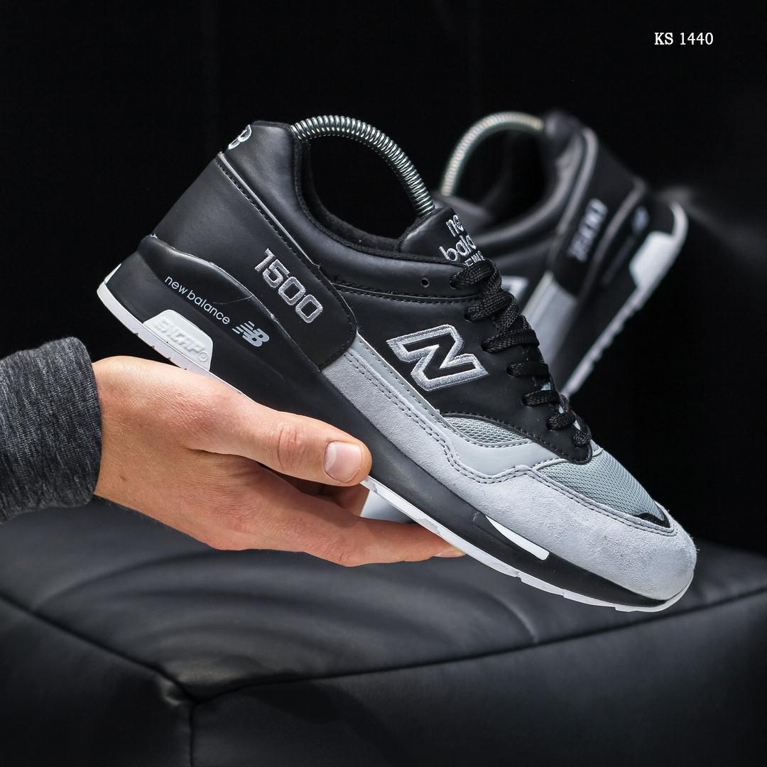 Чоловічі кросівки New Balance 1500 (чорно-сірі) KS 1440