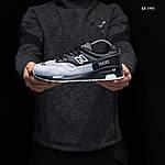 Чоловічі кросівки New Balance 1500 (чорно-сірі) KS 1440, фото 2