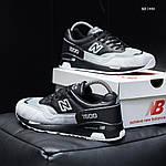 Чоловічі кросівки New Balance 1500 (чорно-сірі) KS 1440, фото 7