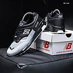 Чоловічі кросівки New Balance 1500 (чорно-сірі) KS 1440, фото 8
