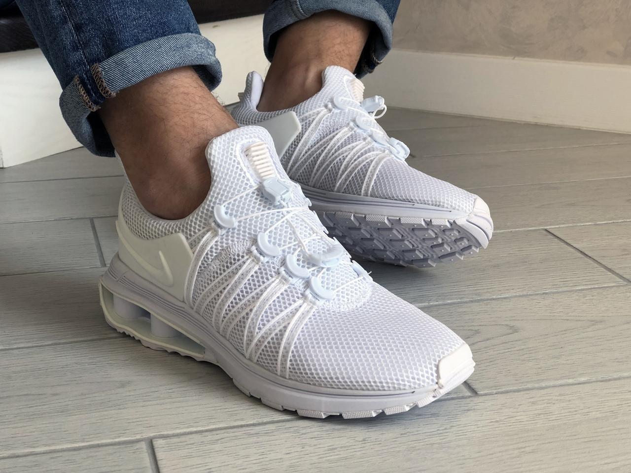 Мужские кроссовки Nike Shox Gravity (белые) 9301
