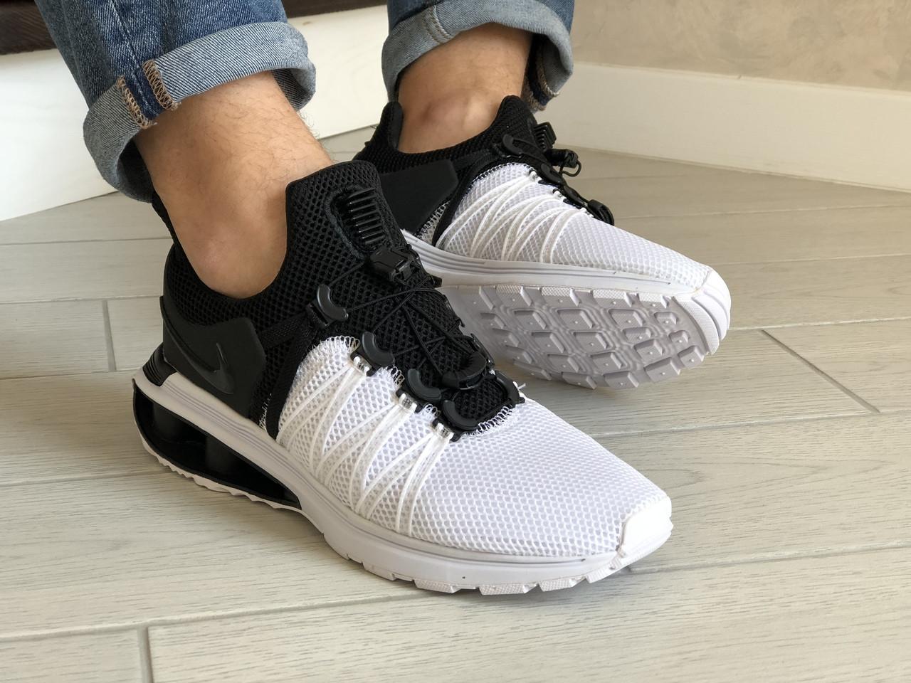 Мужские кроссовки Nike Shox Gravity (черно-белые) 9302