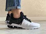 Мужские кроссовки Nike Shox Gravity (черно-белые) 9302, фото 3