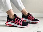 Женские кроссовки Nike Shox Gravity (черно-розовые) 9303, фото 2